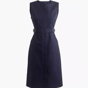 Jcrew NWT Zip Front Belted Sleeveless Dress